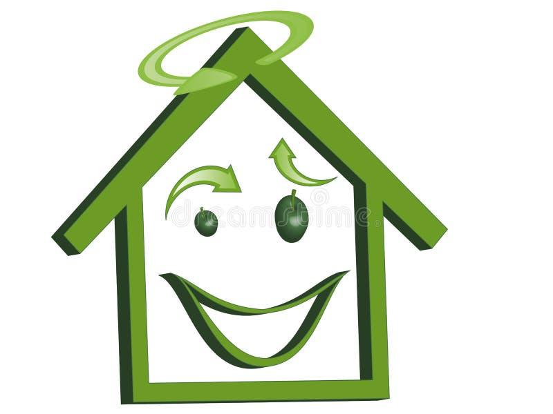 House ecology stock illustration