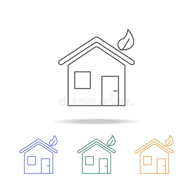 house, ecology green icons. Element of ecology for mobile concept and web apps. Thin line icon for website design and development stock illustration