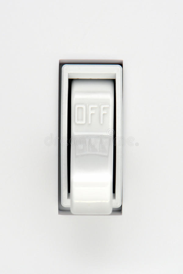 House Electric Light Switch in OFF Position royalty free stock images