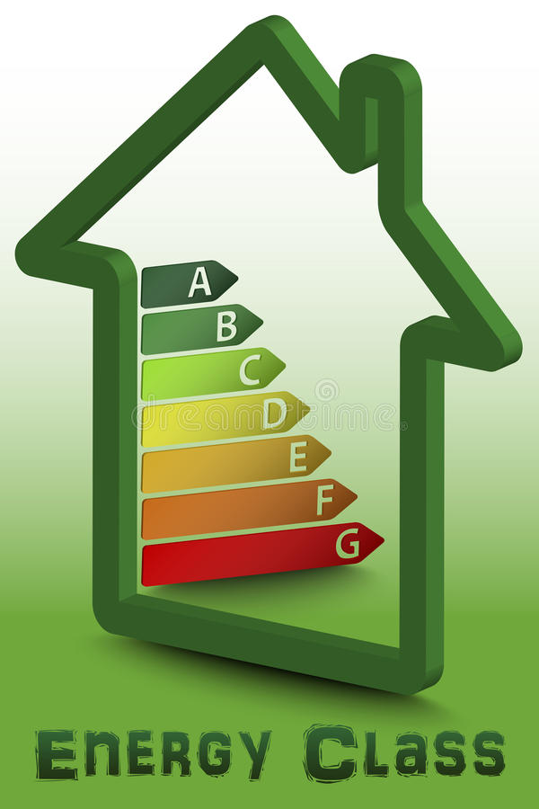 Download House Energy Class Stock Illustration. Image Of Chart   56733907