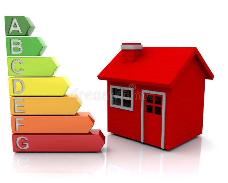House with energy ratings royalty free stock image