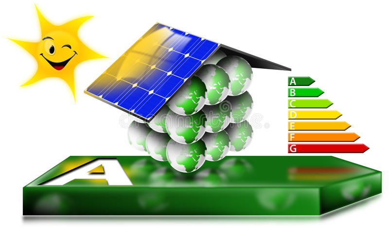 Download House Energy Saving Concept Stock Illustration - Image: 23100699