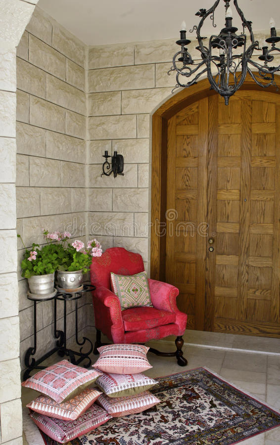Download House entrance hall stock image. Image of chandelier - 22592775