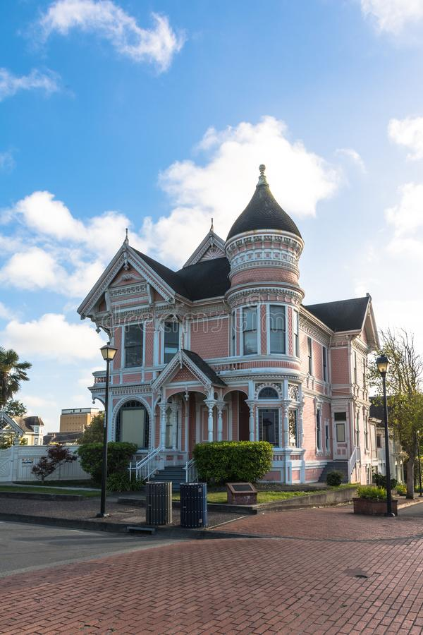 House in Eureka, California. Eureka,California,USA - June 5, 2017 : View of a Victorian House in Eureka stock images