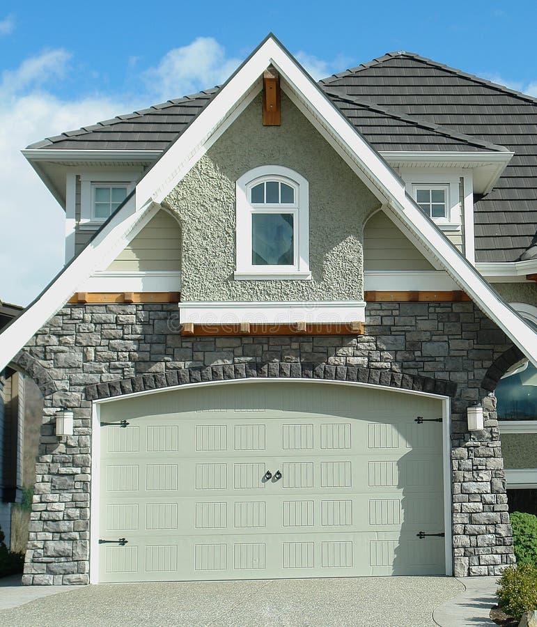 House Exterior Detail Garage royalty free stock image