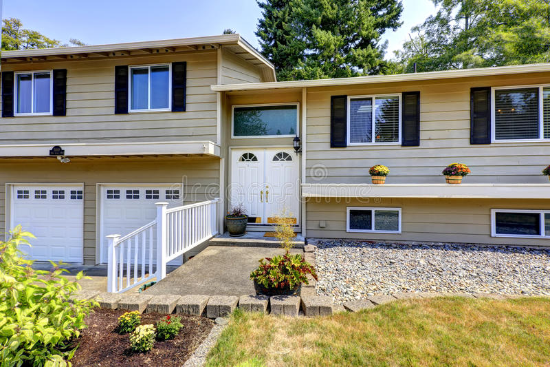 House exterior in federal way wa stock photo image for Entrance from garage to house