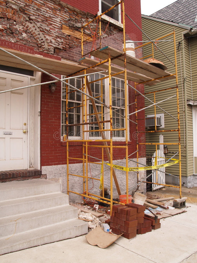House exterior remodel royalty free stock images