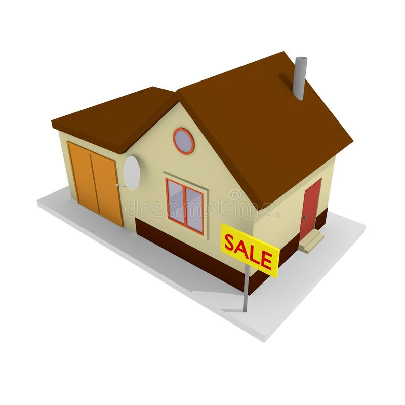 house försäljningen royaltyfri bild