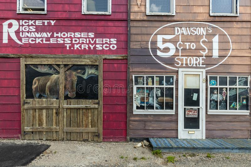 House Facade in Dawson Creek in Canada, 04. July 2019. A House Facade in Dawson Creek in Canada, 04. July 2019 stock image