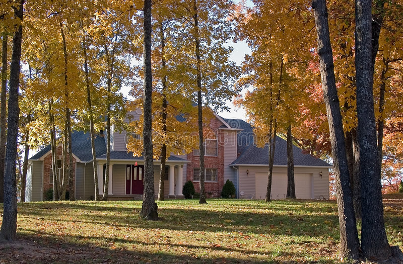 House in fall royalty free stock images