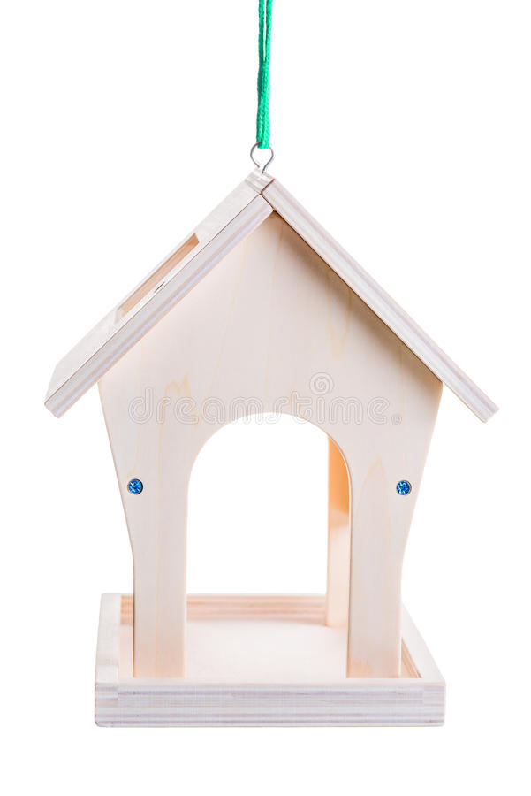 House for feeding birds in cold weather time of the year stock image
