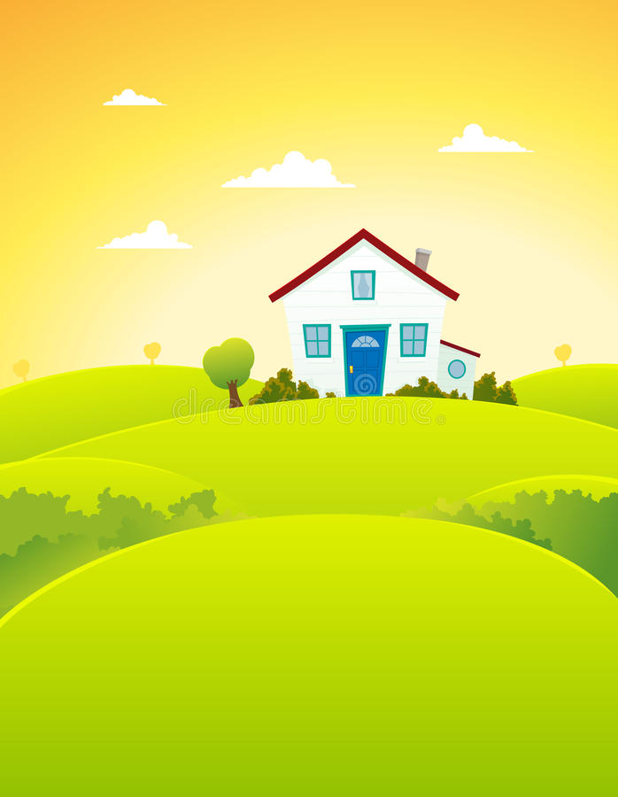 House In The Fields Royalty Free Stock Images
