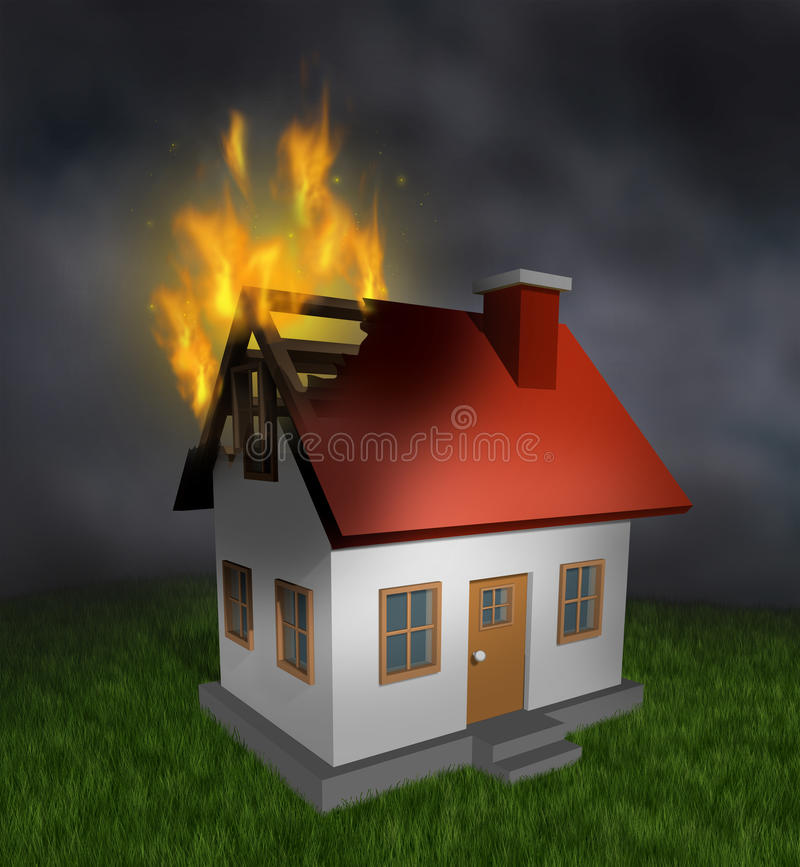 House Fire Stock Illustration Illustration Of Building