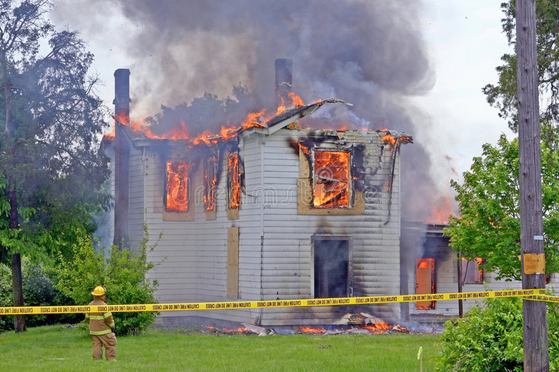 Download House Fire stock photo. Image of burn, house, horizontal - 4773820