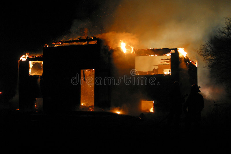 House fire stock photos