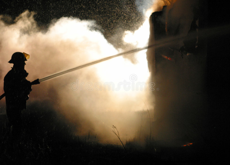 Download House fire stock photo. Image of destroy, worker, sparks - 7055116