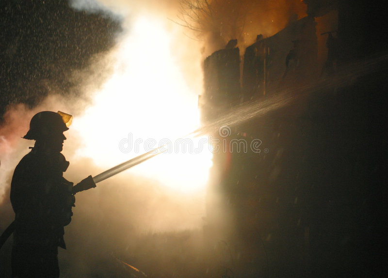 House fire royalty free stock photo
