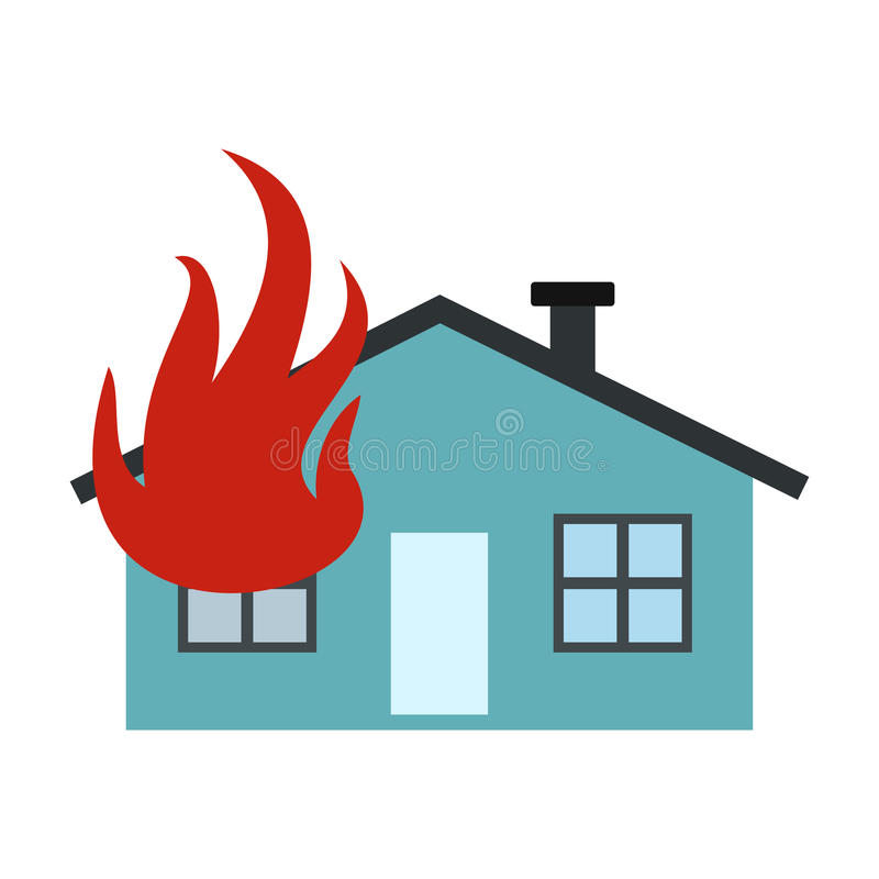 House on fire icon royalty free illustration