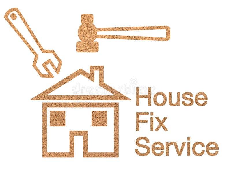 House fix service sign vector illustration