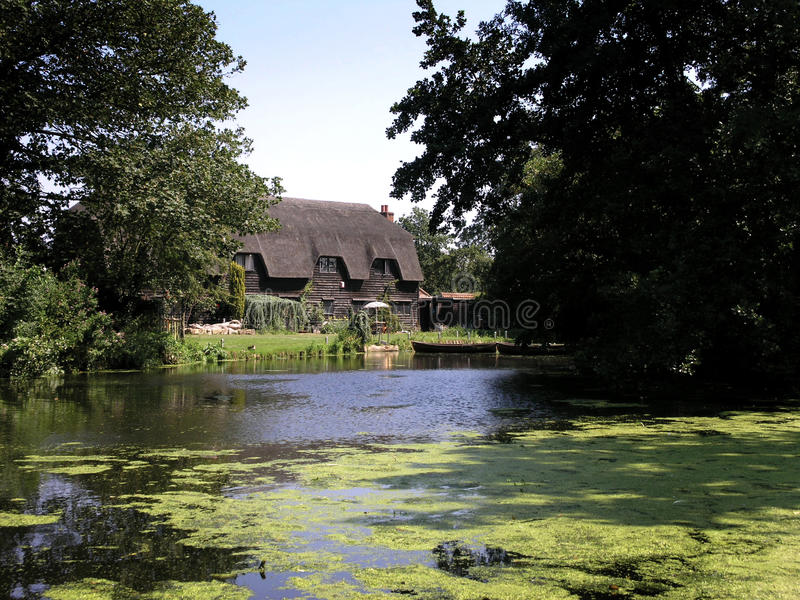 Download House in Flatford stock photo. Image of watermill, residential - 10008150