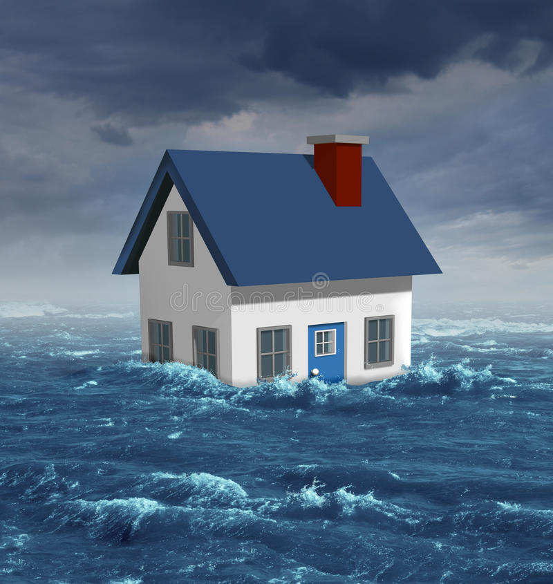 House Flood royalty free illustration