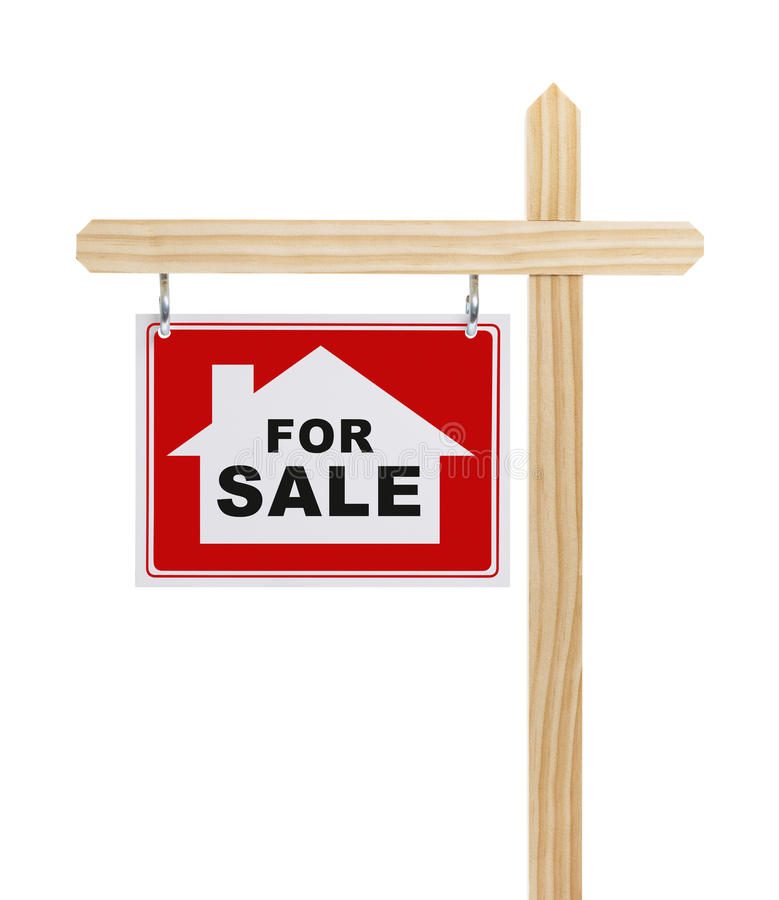 House Fore Sale Sign stock photography