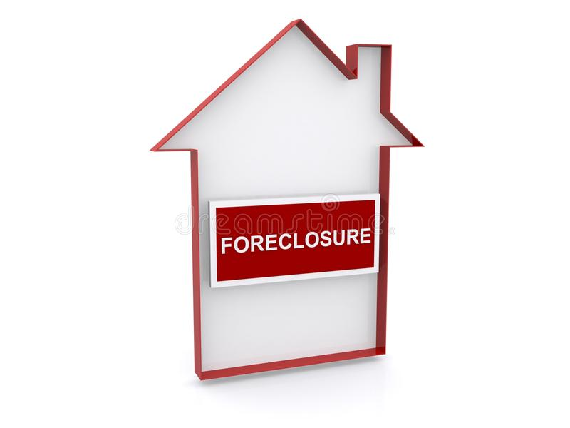 House foreclosure sign stock image