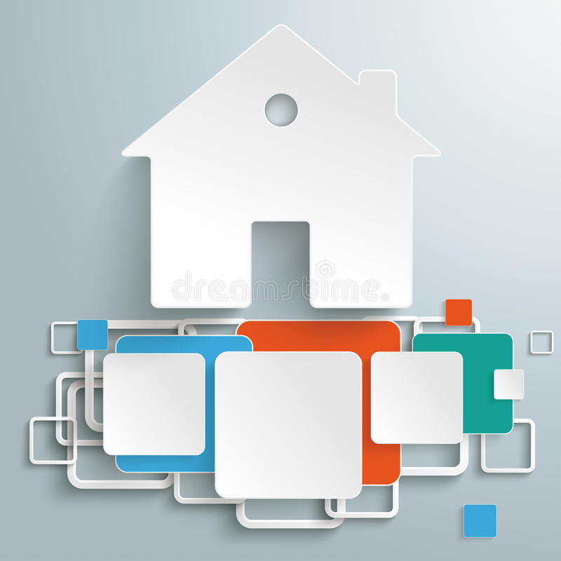 House Foundation Colored Squares Infographic PiAd royalty free illustration