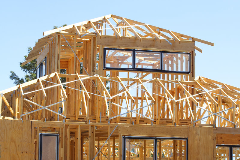 House frame stock photography