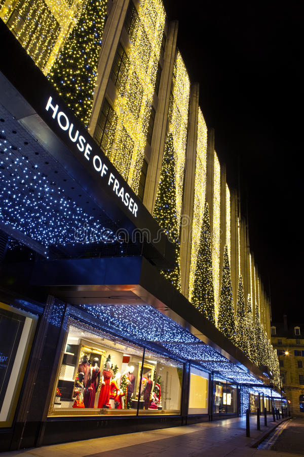 House of Fraser in London stock photography
