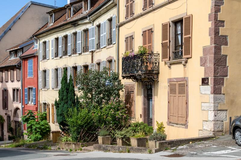 House front in Belfort, France. An image of a house front in Belfort, France stock photos
