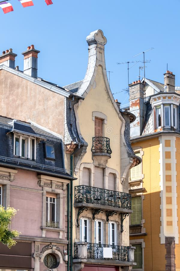 House front in Belfort, France. An image of a house front in Belfort, France royalty free stock photos