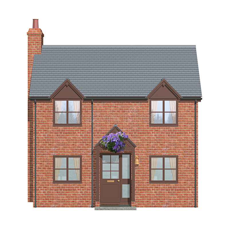Building Front Elevation Part - 40: Download House Front Elevation Stock Illustration. Illustration Of Bricks -  1778621