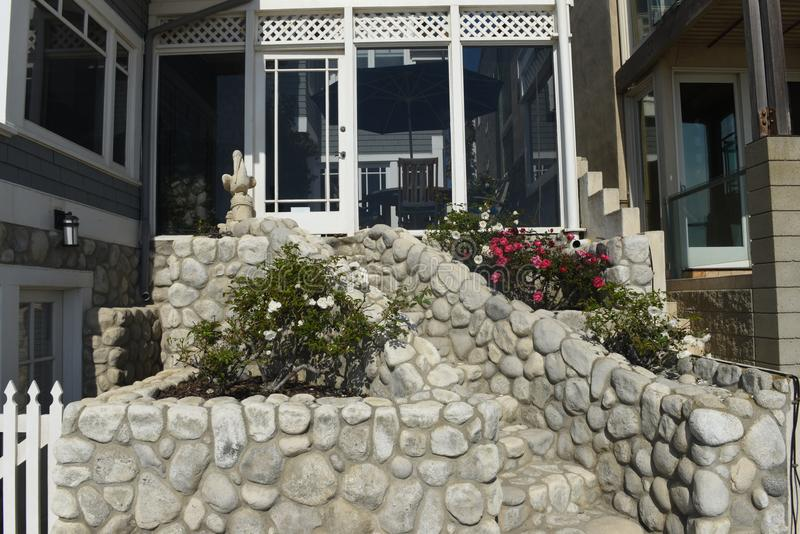 House front of the manhattan beach in california royalty free stock photo