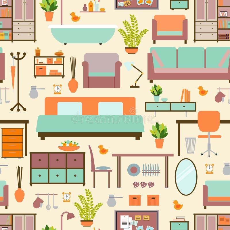 House furniture pattern stock illustration