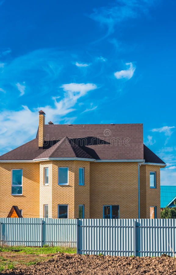 House with a gable roof window royalty free stock image