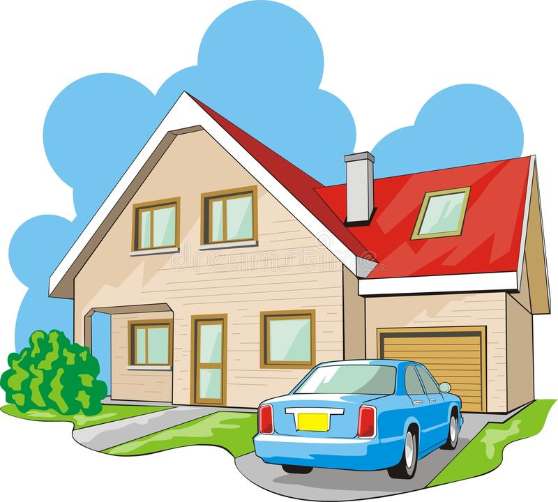 Download House with garage stock vector. Illustration of premises - 22263560
