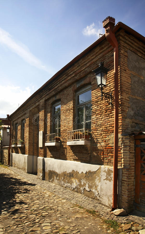 House of Gevorg Bashinjaghian in Sighnaghi. Kakheti. Georgia.  royalty free stock photos
