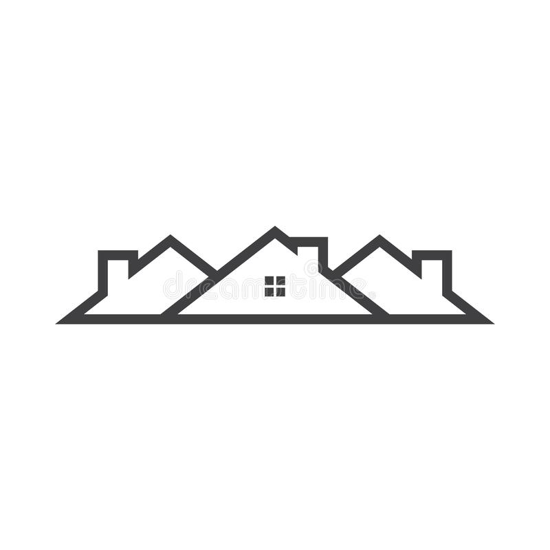 House graphic design template vector isolated illustration. Logo, residence, icon, home, building, estate, living, architecture, simple, loan, housing, town royalty free illustration