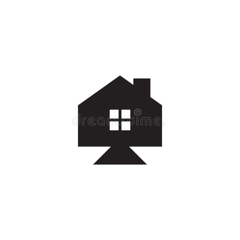 House graphic design template vector isolated illustration. Logo, residence, icon, home, building, estate, living, architecture, simple, loan, housing, town vector illustration
