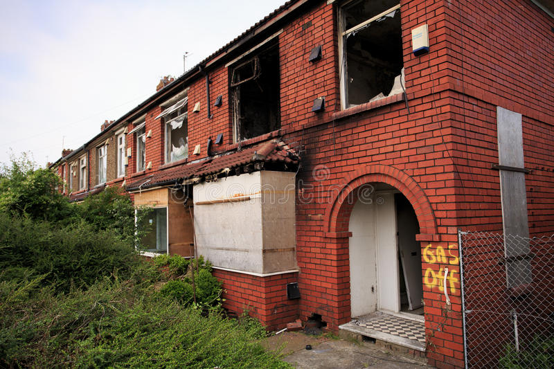 House gutted by fire royalty free stock photo