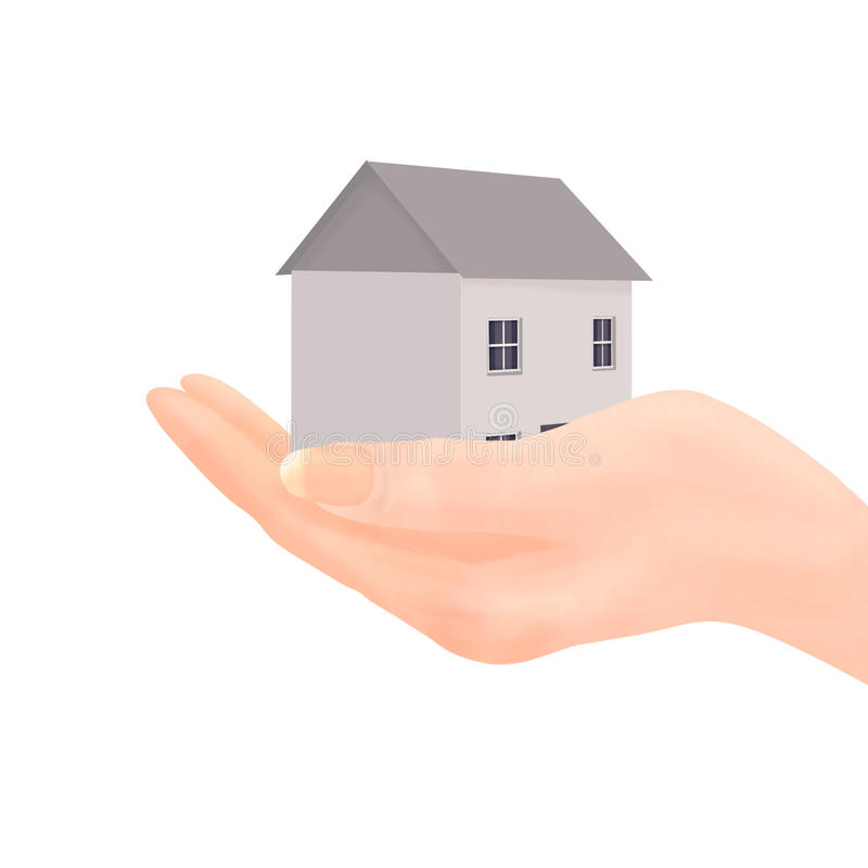 House In Hand Royalty Free Stock Photo