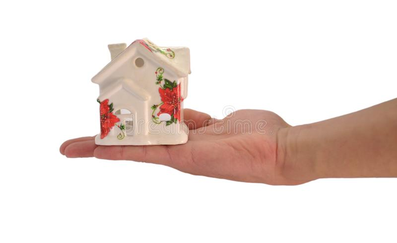 House in the hand royalty free stock photography