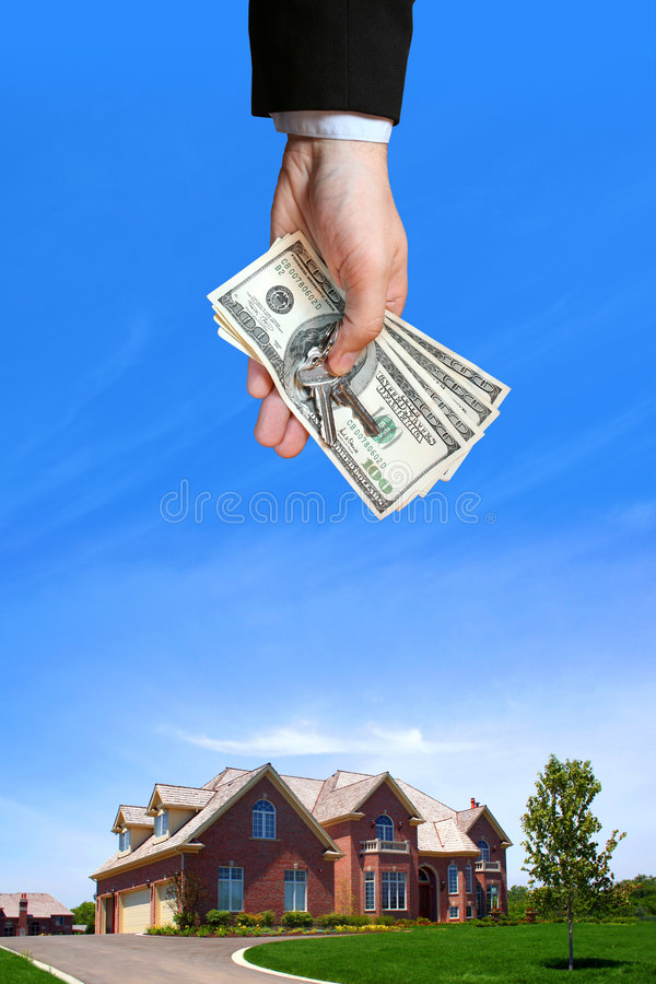 House and hand stock image