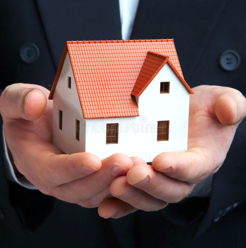 The house in a hand royalty free stock image