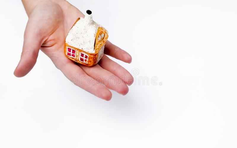 House on hand stock images