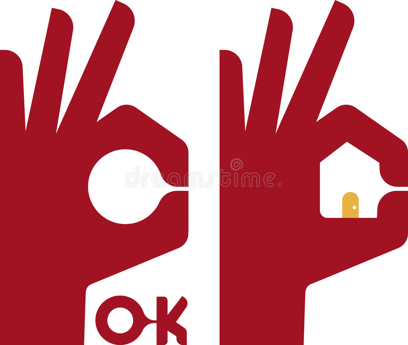 House hand royalty free illustration