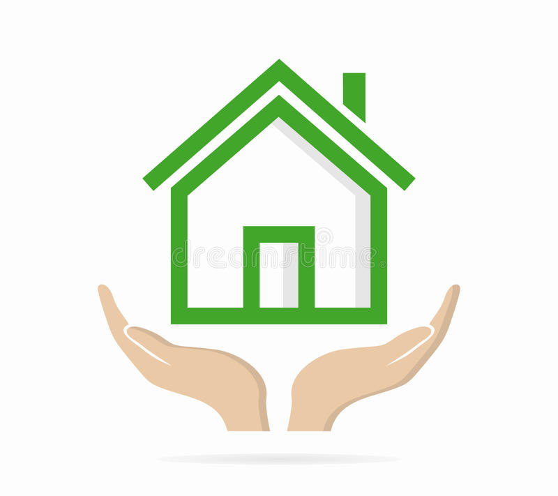 House In Hand Logo Or Icon Stock Vector Illustration Of