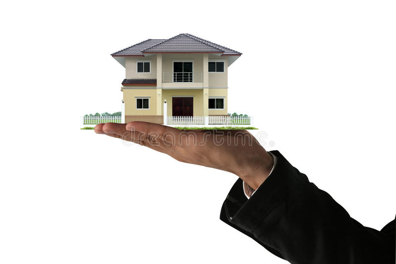 House in hands. royalty free stock image