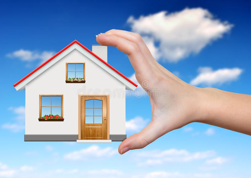 Download The house in hands stock photo. Image of construction - 34203318